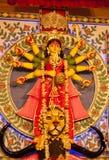 Idole de déesse Durga Images libres de droits