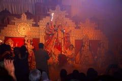 Idole de déesse Durga Le festival est célébré au cours de toute la période de Navaratri pendant 10 jours photographie stock libre de droits