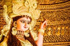 Idole de Maa Jagadhatri Très bien décoré photographie stock libre de droits