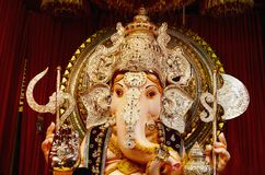 Idole de seigneur Ganesha, Tulshibag Ganapati, Pune, maharashtra, Inde images libres de droits