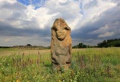 Idole de Stine en steppe Image libre de droits