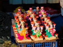 Idole der Göttin Lakshmi auf Diwali-Festival lizenzfreie stockbilder