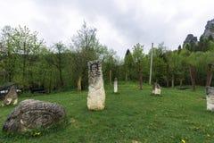Idole nahe der Festung von Urich stockbilder