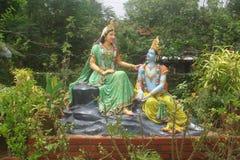 Idole Radha i władyka Shri Krishna Fotografia Stock