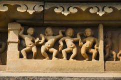Idole, Ruinen des alten Tempels, Khajuraho, Madhya Pradesh, UNESCO-Welterbestätte stockfoto