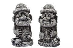 Idole von der Insel Jeju stockbilder
