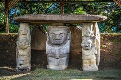 Idole w parku narodowym San Augustin Zdjęcia Royalty Free