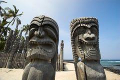 Idoles en bois Images libres de droits