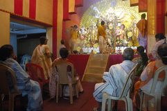 idoles Inde s de festival de durga d'argile Images libres de droits
