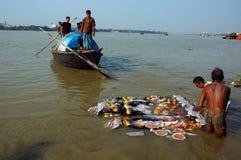 idoles Inde s de festival de durga d'argile Photos libres de droits