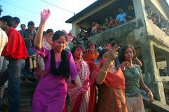 idoles Inde s de festival de durga d'argile Photographie stock
