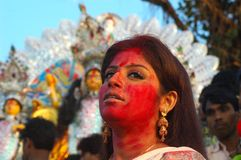 idoles Inde s de festival de durga d'argile Photo stock