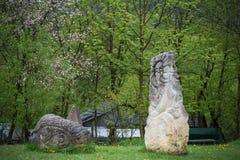 Idoles près de la forteresse d'Urich Photo libre de droits