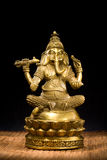 Idolo del Figurine del signore Ganesh Blessing Everyone Fotografia Stock