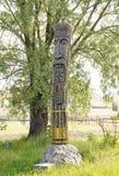 Idolo di legno Perun Fotografie Stock