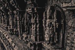 Idolo di Lord Vishnu indù Immagine Stock