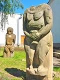 Idolo di pietra degli slavi e dello Scythians antichi Fotografie Stock Libere da Diritti