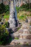 Idolo di pietra del monastero al tempio buddista di Sanbanggulsa a Sanbangs Fotografie Stock