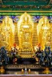 Idolo dorato cinese di tradizione Immagine Stock