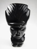 Idolo nero lucidato dell'Onyx-Azteco Immagine Stock
