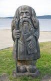 Idolo pagano di legno Immagini Stock Libere da Diritti
