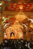 Idolreplik Shrimant Dagadu Seth Ganapati von Brahmanaspati-Tempel, Ganapati-Festival stockbild