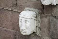 Idols head statue from Tiwanaku royalty free stock photos