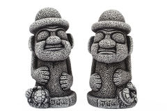 Idols from island Jeju. Idols from Jeju island which protect from evil ghosts and bring good luck Stock Images