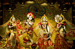 Idols of Lord Krishna and Radha in ISKCON Temple Chennai. The institution dedicated to Lord Krishna, Hindu God, has completed fifty years. The temple is located Royalty Free Stock Images