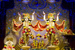 Idols of Lord Krishna and Radha in ISKCON Temple Chennai. The institution dedicated to Lord Krishna, Hindu God, has completed fifty years. The temple is located Royalty Free Stock Image