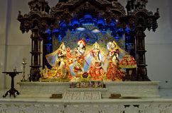 Idols of Lord Krishna and Radha in ISKCON Temple Chennai. The institution dedicated to Lord Krishna, Hindu God, has completed fifty years. The temple is located Royalty Free Stock Photos