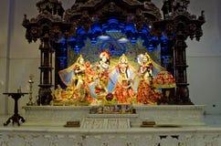 Idols of Lord Krishna and Radha in ISKCON Temple Chennai Royalty Free Stock Photos