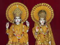 Idols of Lord Vishna and Godess Lakshmi Royalty Free Stock Image