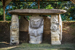 Idols in national park san augustin Royalty Free Stock Photos