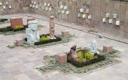 Idols statues from Tiwanaku stock photo