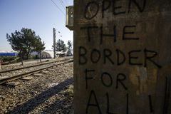 Idomeni Greek border Royalty Free Stock Image