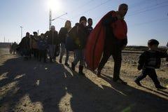 Idomeni Greek border Stock Photo