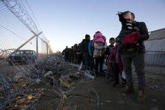 Idomeni Greek border Royalty Free Stock Photo
