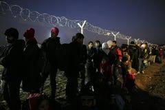 Idomeni Greek border Royalty Free Stock Images