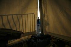 Idomeni Greek border Stock Photos