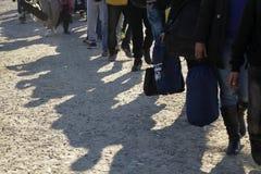 Idomeni Greek border Stock Image