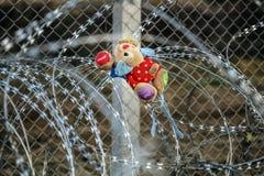 Idomeni Greek border Stock Photography