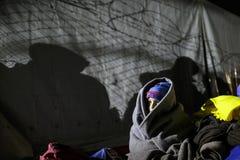 Idomeni grekisk gräns Fotografering för Bildbyråer