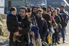 Idomeni Griekse grens Stock Afbeeldingen
