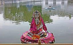 Idool van Lord Shiva in Durgiana-Tempel, Amritsar, India Stock Foto's