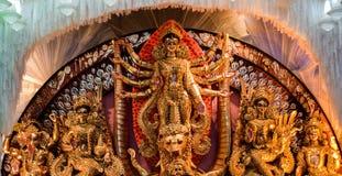 Idool van Maa Durga stock afbeeldingen