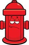 Idrante antincendio del fumetto stanco Immagine Stock
