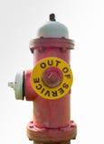 Idrante antincendio fuori servizio Fotografie Stock Libere da Diritti