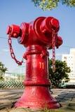 Idrante antincendio nella via Fotografia Stock Libera da Diritti