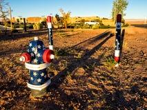 Idranti da una pagina di primo mattino, Arizona Immagine Stock Libera da Diritti